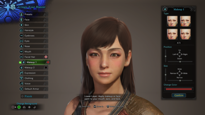 Female Customisation Screen 001